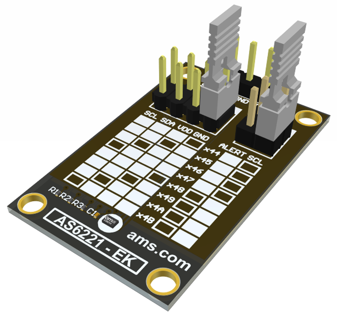 AS6221 Eval Kit Board Picture